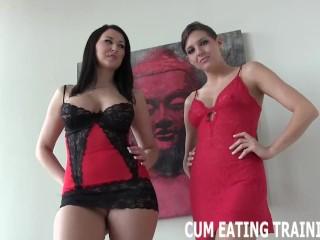 Femdom/cumshots/and cei pov eating porn