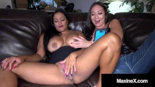 Busty Oriental Goddess Maxine X Squirts With Hot Lesbian Nyssa Nevers!