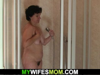 hairy mother-in-law fucks his hot horny cheating shaft