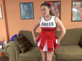 ChickPass - Brunette wife Melanie Hicks does a toy in her sexy costume