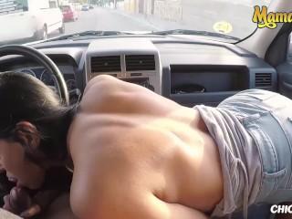 Chicas Loca - Big Tits Latina Kira Queen Risky Outdoor Sex - MAMACITAZ