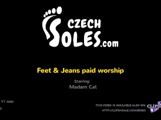 feet & jeans paid pussy worship - czechsoles clip (long foot worship)