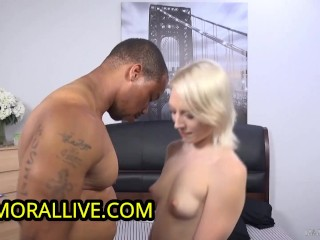 SQUIRTING FUN - TRILLIUM HAIRY BLONDE PUSSY CHEERLEADER SQUIRTS ON BBC