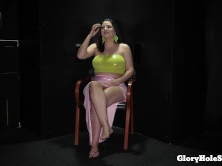 busty girl alex swallows the cum out of 10 cocks