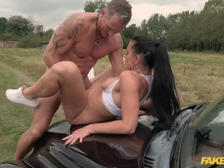 Fake Taxi American Texas Patti in a hot hardcore british taxi porn clip