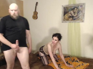 Cock/the midwife rough while wife