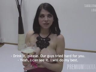 Premium Bukkake – Elya swallowing 86 huge mouthful cumshots