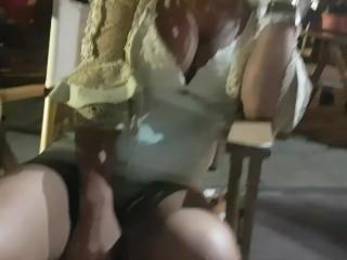 Crazy girl masturbate and pee on public street-Public exhibitionist