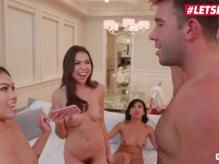 "Scam Angels – ""SHUT UP AND TAKE YOUR BIG DICK OUT"" Teen Foursome"