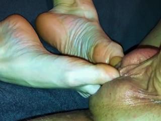 Amateur footjob #71 extremely hot sockjob in black ankle sock