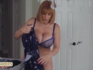Lil Humpers - older white milf Sara Jay fucks younger black cock