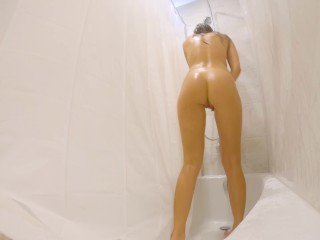 HIDDEN CAMERA IN THE SHOWER – GIRL DOUBLE CUMS