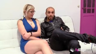 Melody gets nailed hard while her husband can only watch