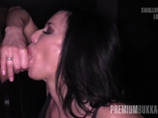 Premium Bukkake - Veronica Avluv swallowing 66 huge mouthful cum loads