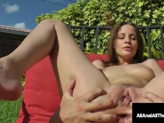 Hot Cutie Girl Next Door Jasmine Wolff Gets Backyard Butt Fucked!