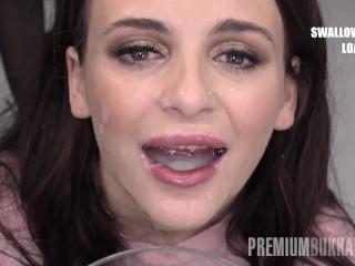 Premium Bukkake Kate Rich Gulps 156 Giant Mouthful Cumshots