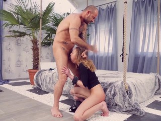 Exotic beauty Kina Kai trying out different sex toys for her shaved pussy
