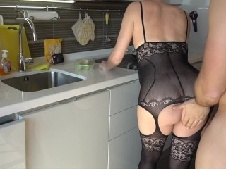 9 MONTHS PREGNANT MOM GET FUCKED IN THE KITCHEN - MAGICMINTCOUPLE