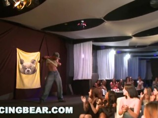 DANCINGBEAR - Fun Birthday Party Orgy With Big Dick Slingin' Male Strippers