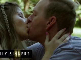 Family Sinners - Petite stepdaughter sucks dilf dick