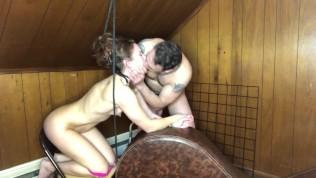 Daddy has been gone so long. Bondage, spanking, choking & real orgasms