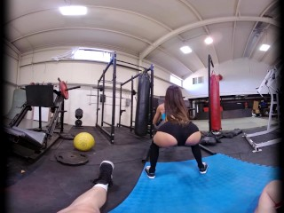 VRConk Hardcore fucking with petite asian at the gym VR Porn