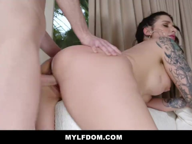 Curvy Milf Dominates Boy in Leather