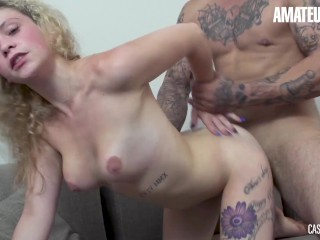 Casting Francais – Hot Skinny Curly Teen Fucked By A Big Hunk At Audition