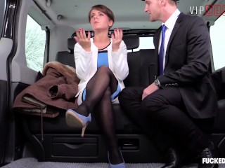 Fucked In Traffic - Business Woman Gets Screwed By Her Chauffeur In The Cab