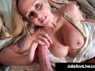 Busty Beautiful World Famous Milf Julia Ann Gets Pussy Mega Dick Drilled