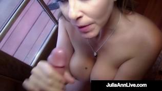 Hot Fantastic Face Fucking Julia Ann Sucks Your Hard Throbbing Cock POV!