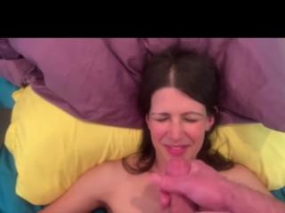 Hot Milf cumshot compilation facial cum swallow CIM creampie POV