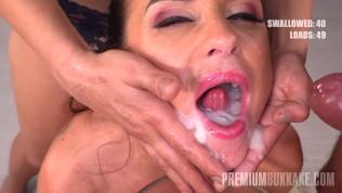 Premium Bukkake – Vinna Reed swallowing 68 huge mouthful cum loads