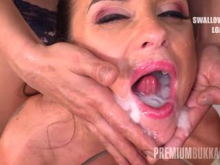 Premium Bukkake – Vinna Reed swallowing 68 enormous mouthful cum loads