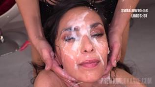 Premium Bukkake – Ashley Ocean swallowing 32 huge mouthful cum loads