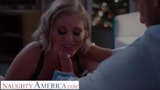 Naughty America blonde pornstar Casca Akashova fucks her client in his room