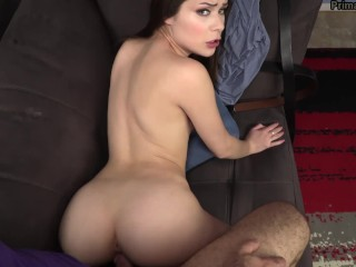 Needy Step Daughter Flirts & Comes Onto Step Dad Till He Breaks