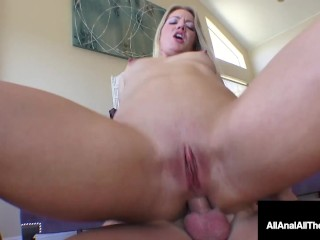 Big Butt Blonde Candice Dare Fucked & Gaped By Horny Anal PileDriver!