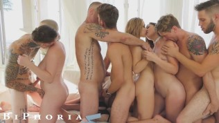 BiPhoria - Hot Bisexual Couple Turns Party Into Wild Orgy