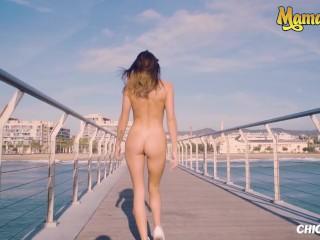 Chicas Loca - Hot Petite Blonde with Perfect Pussy Fucks on a Public Beach