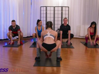 Fitness Rooms Hot lesbians Stacy Cruz and Lady Dee distracted by big dick