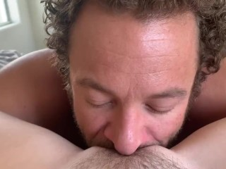 After a long day at the beach Brad Newman is starving for your pussy