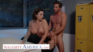 naughty america – ivy lebelle plays with her student