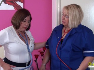 OldNannY Busty British Mature Lesbians