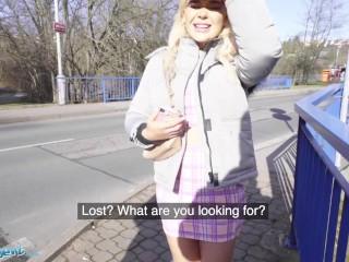 Public Agent British Tourist Gina Varney Sucks Big Dick