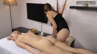 Real Cute Blonde Lizka Gets Her Tight Pussy Massaged