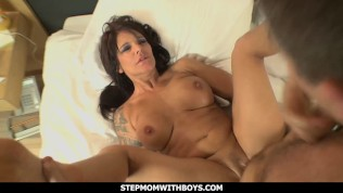 Stepmomwithboys - Euro Mom Date Goes Wild With Hard Giving It To