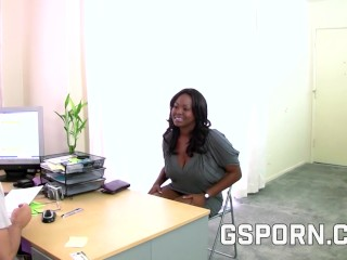 Hot Milf In A Hot Sex Interview Fucked By White Rocket