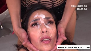 Ashley Ocean Swallows 50+ Cum Shots in Extreme Bukkakexxx