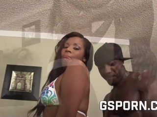 Hot Riley Ray Pounding With Hairy Big Black Cock With Facial Cumshot On Ass